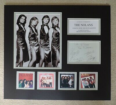 The Nolans - Unique Signed Display - Singles Collection - Coa • 85£