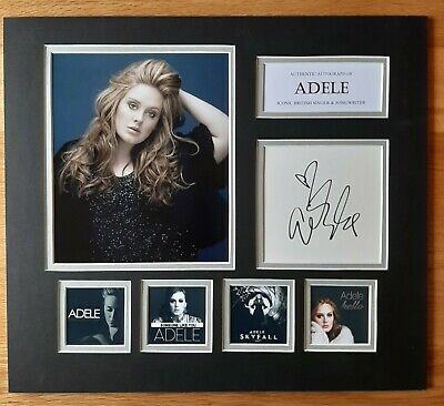 Adele - Someone Like You - Unique Signed Display - Singles Collection - Coa • 250£