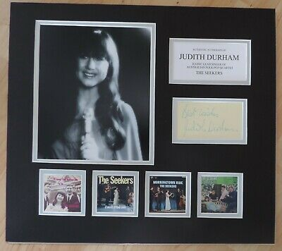 Judith Durham - The Seekers - Unique Signed Display - Singles Collection - Coa • 125£