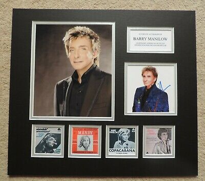 Barry Manilow - Unique Signed Display - Singles Collection - Coa • 150£
