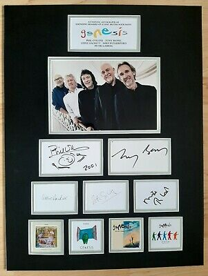 Genesis - Collins Rutherford Hackett Gabriel Banks -stunning Autographed Display • 595£