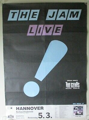 THE JAM.+ THE GENTS. ORIGINAL CONCERT POSTER. 1980. HANOVER.GERMANY.RARE.23 X33  • 107£