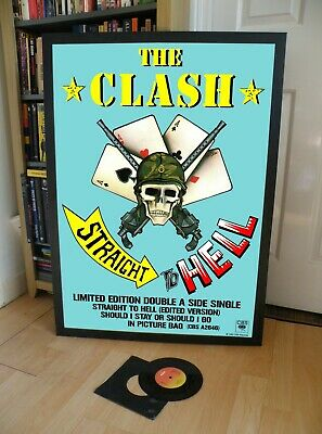 The Clash Straight To Hell Promo Poster,sandinista,white Riot, • 29.99£