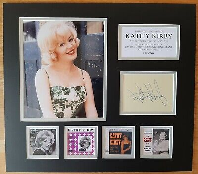 Kathy Kirby - Eurovision 1965  - Unique Signed Display - Singles Collection- Coa • 125£