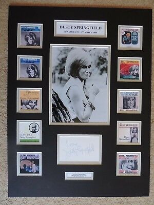 Dusty Springfield - Unique Signed / Autograph Display - Singles Collection - Coa • 250£