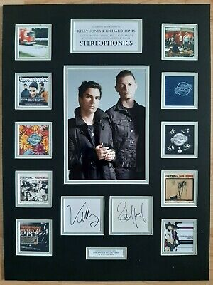 Stereophonics - Kelly & Richard Jones - Unique Signed / Autograph Display - Coa • 195£
