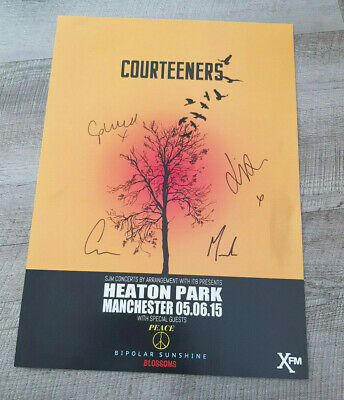 Courteeners Signed Poster Heaton Park 05-06-2015 • 29.99£