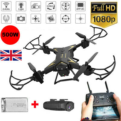 Drone With LED Light /Remote RC Control Quadcopter HD 1080P 5.0MP Camera • 32.98£