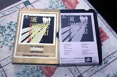 The Shadows - Greatest Hits - Uk 8-track Tape 1970 - In Sleeve • 12.99£