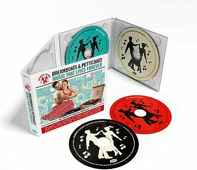 DREAMBOATS & PETTICOATS MUSIC THAT LIVES FOREVER 4-CD (Released 6/11/20) • 10.92£