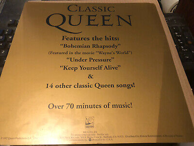 Queen Classic Queen Large Usa Import Promo Card Excellent • 6.25£