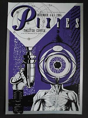 Todd Slater The Pixies Limited Edition Silkscreen Poster2004 Mint • 75£