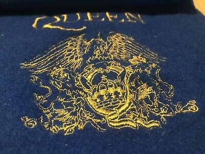 Queen Beautiful Blue Tour Scarf With Gold Queen Crest Limited Edition • 5.50£