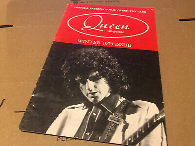 Queen Winter 1979 Original Fanclub Magazine   • 6.25£