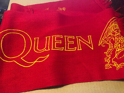 Queen Beautiful Red And Gold Tour Scarf. Rare And Limited  • 2.20£