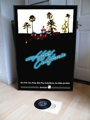 The Eagles Hotel California Promo Poster,rock.folk,country,thrill • 29.99£
