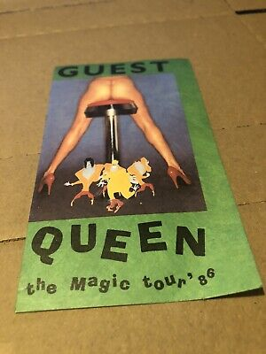 Queen The Magic Tour 1986 Rare Original Guest Tour Past  • 3.89£