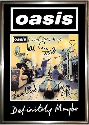 Oasis Signed Poster Reprint A5 • 2£