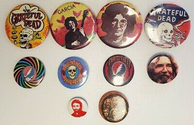LOT Of 10 VINTAGE GRATEFUL DEAD/JERRY GARCIA PINS • 37.03£