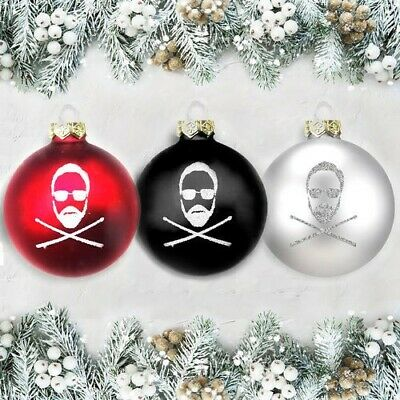 Roger Taylor Queen  Christmas Baubles Set Of 3  • 40£