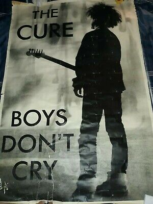 Original Vintage The Cure Boys Don't Cry Poster Huge 40  X 55  GIANT 1980's RARE • 30.01£