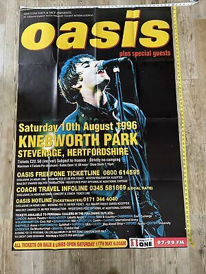 OASIS GIANT KNEBWORTH POSTER 60  X 40  • 5£