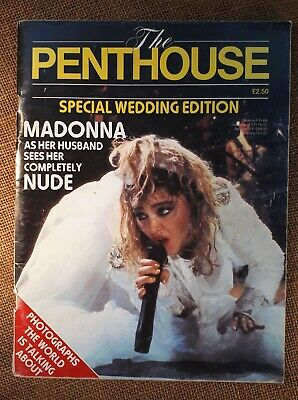 1985 (Vol 1/ No.3 Edition). PENTHOUSE. Madonna Wedding Edition/ Nude Photographs • 20£