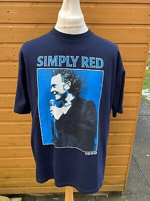 Vintage 90s Simply Red UK Tour 1999 Mick Hucknall T Shirt Size XL • 19.99£