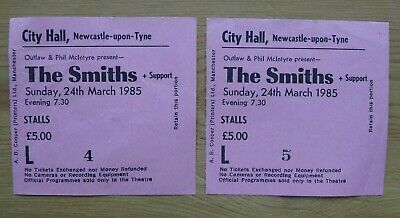 The Smiths - 2 Concert Tickets Newcastle City Hall 28 March 1985, Meat Is Murder • 49.99£