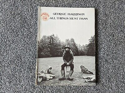 George Harrison Beatles 1970 Usa Uk All Things Must Pass Song Book Apple Records • 2£