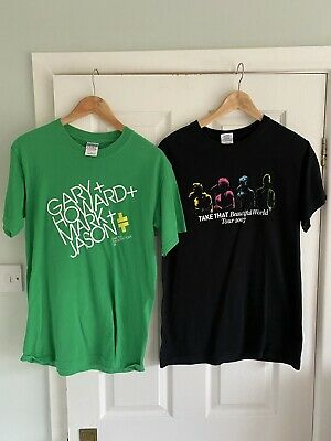 Music Band Take That Tour T Shirts Beautiful World And Ultimate Tour Size Small • 14.99£