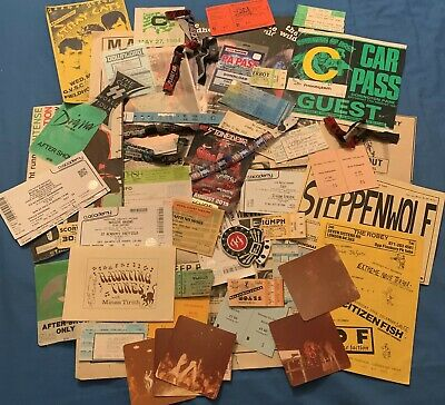 Rock Memorabilia Collection Tickets Flyers Cuttings Ac Dc Rory Gallagher Queen • 21£