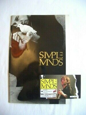 Simple Minds - Once Upon A Time Tour Programme & Ticket (Frejus France 1986) • 10£