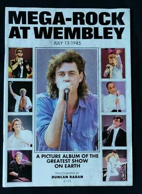 Live Aid Mega Rock At Wembley Magazine From July 13th 1985 • 4.99£