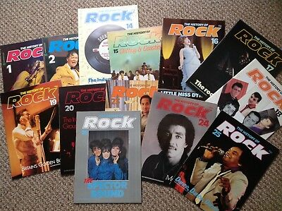 12 VOLUMES-THE HISTORY OF ROCK  1980's MAGAZINES-ROCK & POP STARS-JAGGER-SHADOWS • 12.99£