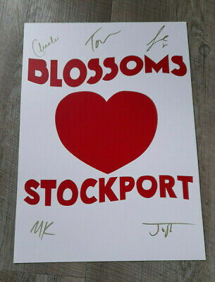 Blossoms Signed Poster Stockport • 15.95£