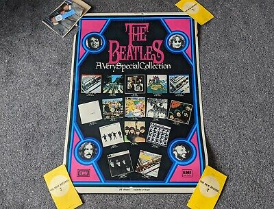 The Beatles 1970's Uk Emi Promo Poster 'a Very Special Collection' 100cm X 68cm • 50£