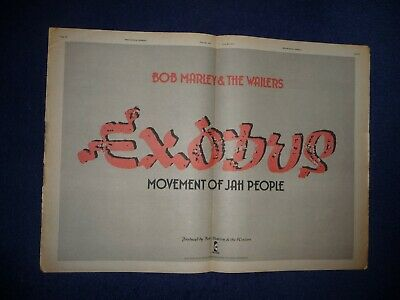 Bob Marley & Wailers Exodus 1977 Double  Page Press Advert Poster Size  37/50cm • 10.99£