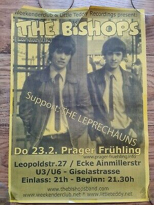 The Bishops 2006 Munich Offical Gig Poster Indie Germany • 3.99£