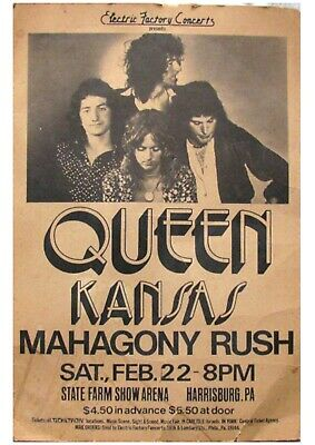 QUEEN 1975 Tour Poster   A3 Poster   Brand New • 3£