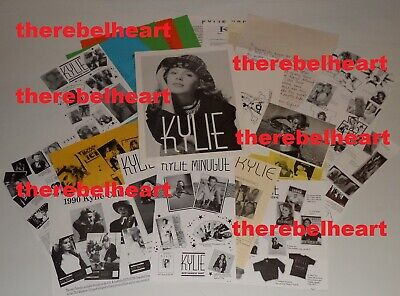 KYLIE MINOGUE Australian Official Fan Club Lot 1980s 1990s PWL ERA Letters RARE • 299.99£