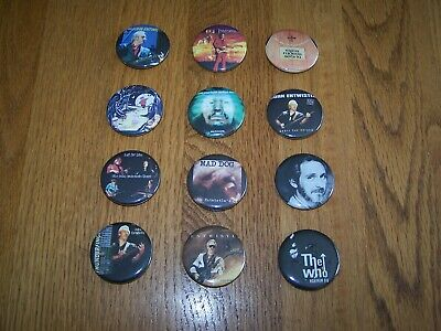John Entwistle / The Who 12 Pin Assortment Are In Excellent Unworn Condition Nos • 6.47£