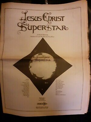 Jesus Christ Superstar 1970 Advert (Ian Gillan) Deep Purple  • 1.49£