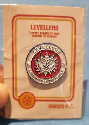The Levellers Bands FC Official Enamel Badge Ltd To 1000 Only - New In Packet • 14.99£
