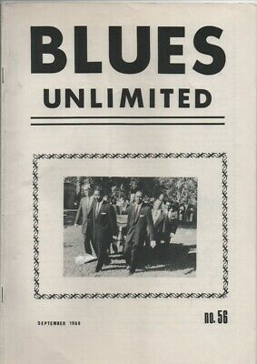 BLUES UNLIMITED : No.56 : September 1968 : Josh White & Johnnie Temple • 0.99£