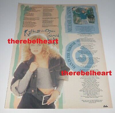 KYLIE MINOGUE 1988 UK Magazine I Should Be So Lucky Songwords PWL PHOTO Clipping • 7.99£