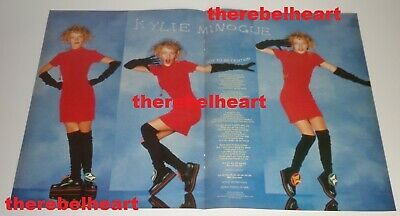 KYLIE MINOGUE 1988 Magazine Double Pg Poster PWL ERA Got To Be Certain Songwords • 14.99£