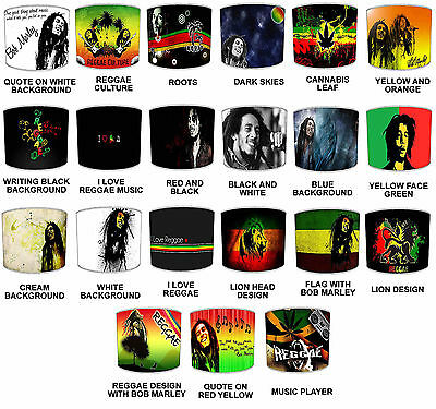 Bob Marley Reggae Lampshades, Ideal To Match Bob Marley Wall Stickers & Decals.  • 26.99£