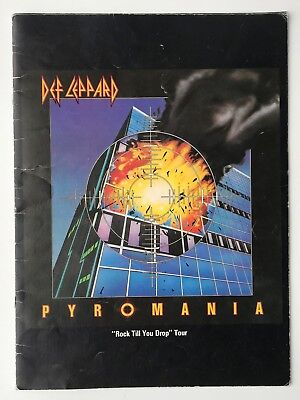 DEF LEPPARD Rare 1983 SIGNED / AUTOGRAPHED Rock Till You Drop Tour Programme • 225£