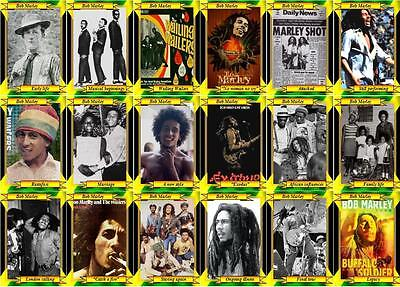 Bob Marley Tribute Music Trading Cards • 6£